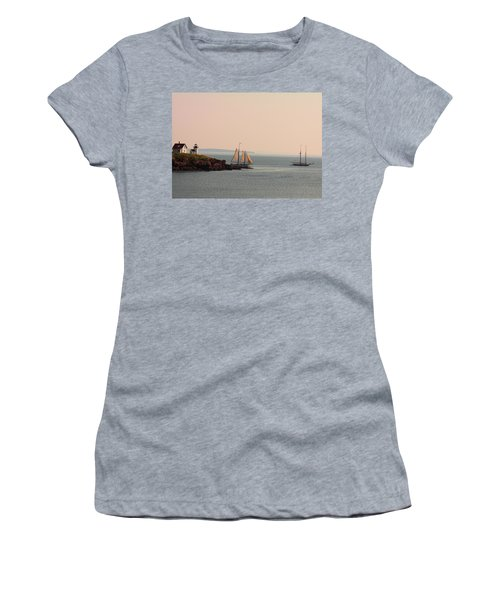 Leaving Camden Harbor Women's T-Shirt