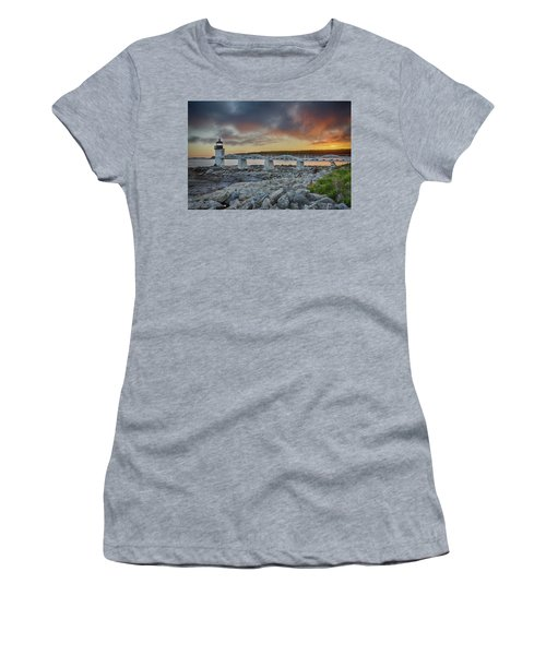 Marshall Point Lighthouse At Sunset, Maine, Usa Women's T-Shirt