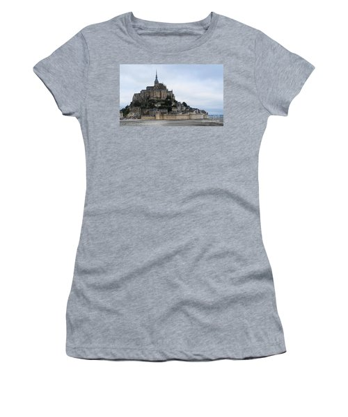 Mont St Michel Women's T-Shirt (Junior Cut) by Therese Alcorn