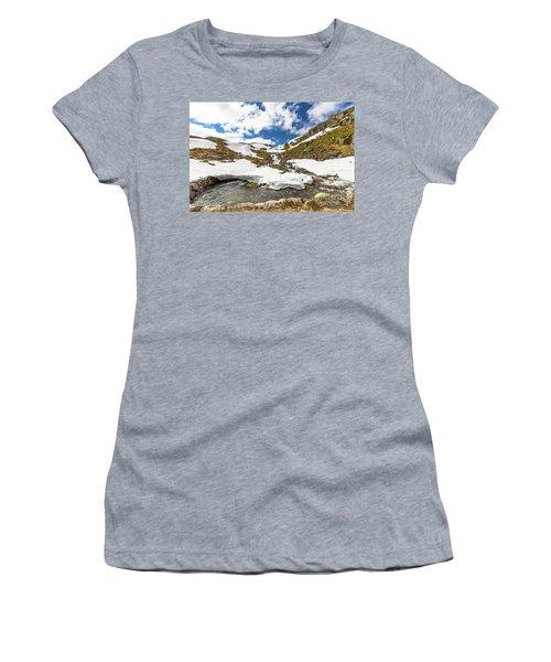Norway Mountain Landscape Women's T-Shirt (Athletic Fit)