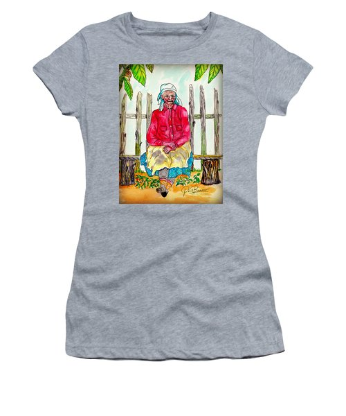 Old Migrant Worker, Resting, Arcadia, Florida 1975 Women's T-Shirt (Athletic Fit)