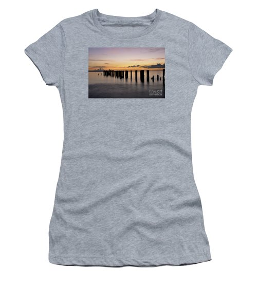 Women's T-Shirt (Junior Cut) featuring the photograph Old Naples Pier by Kelly Wade