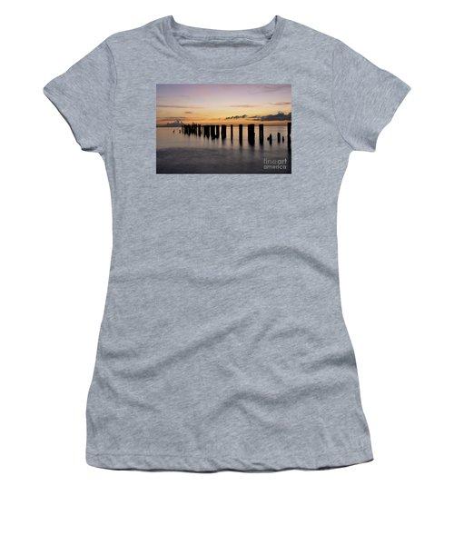Old Naples Pier Women's T-Shirt (Athletic Fit)