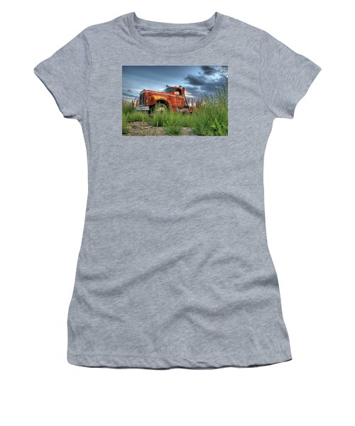 Orange Truck Women's T-Shirt (Athletic Fit)
