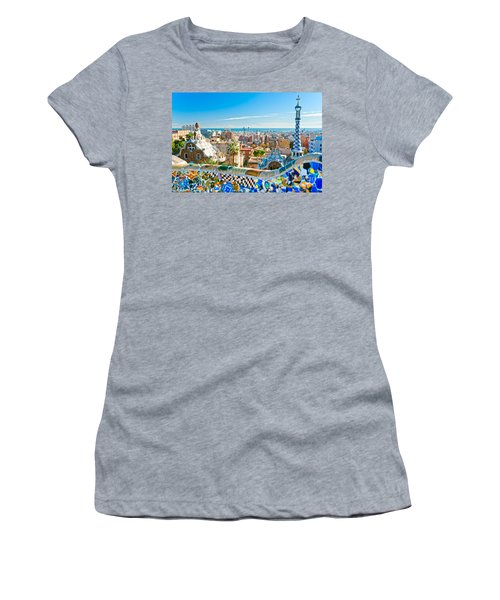 Park Guell Barcelona Women's T-Shirt (Athletic Fit)