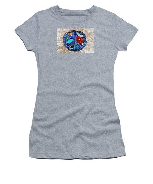 Women's T-Shirt (Junior Cut) featuring the photograph Peace  by Juls Adams