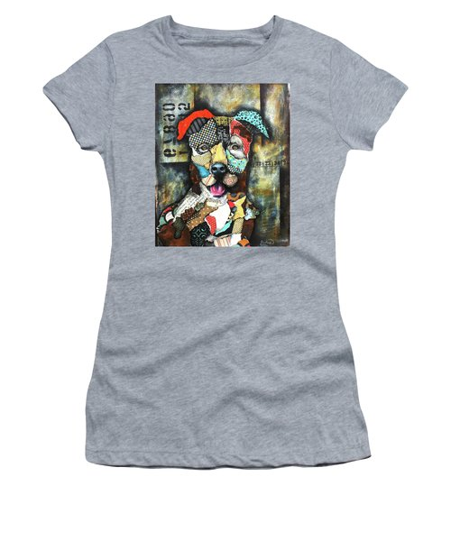 Pit Bull Women's T-Shirt (Junior Cut) by Patricia Lintner