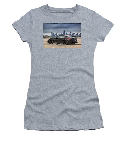 #porsche #cayman #gt4 Women's T-Shirt (Athletic Fit)
