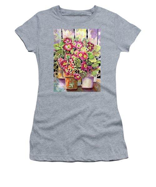 Primroses In Pots Women's T-Shirt