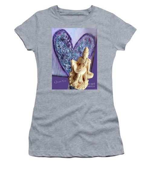 Quan Yin Heart Women's T-Shirt (Athletic Fit)
