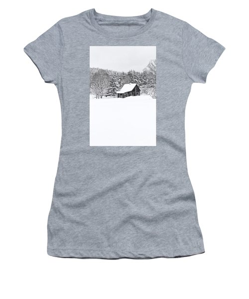 Remote Cabin In Winter Women's T-Shirt