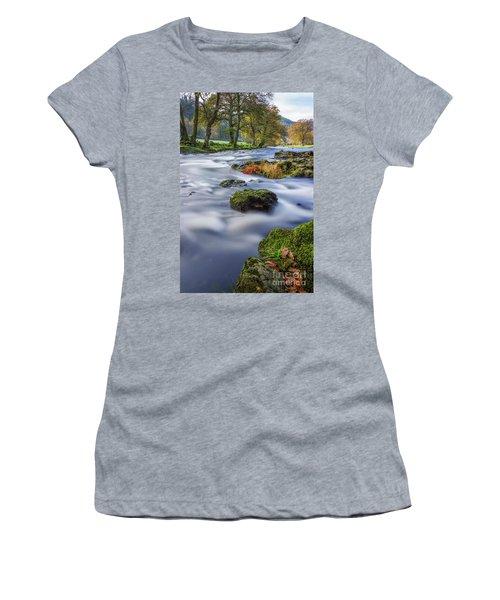 River Llugwy Women's T-Shirt (Junior Cut) by Ian Mitchell
