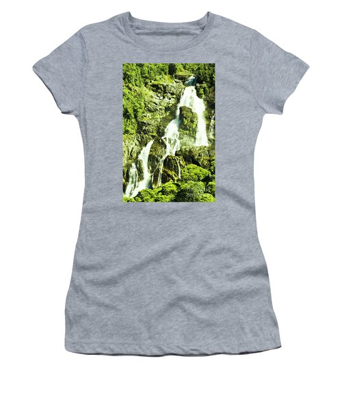 Rocky Mountain Waterfall Women's T-Shirt