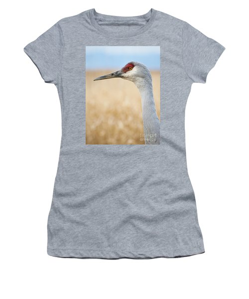 Sandhill Crane Women's T-Shirt (Athletic Fit)