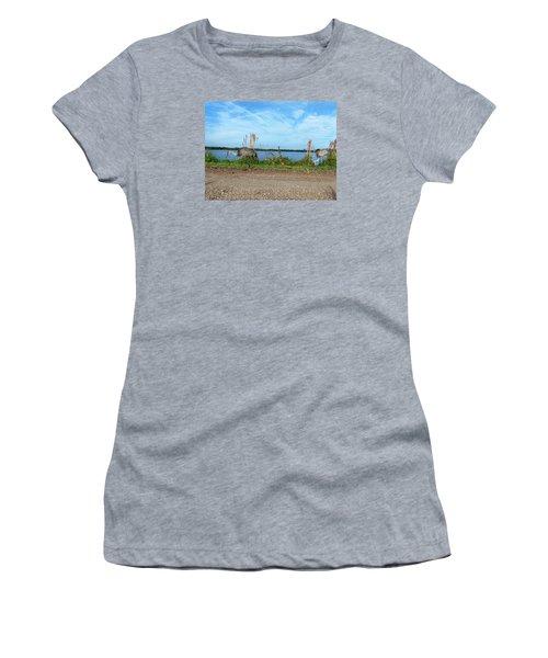Women's T-Shirt (Junior Cut) featuring the photograph Sandhill Crane Family  by Chris Mercer