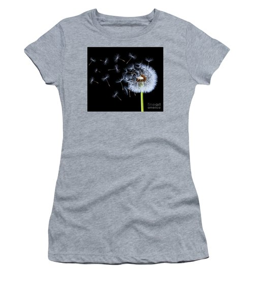 Women's T-Shirt (Junior Cut) featuring the photograph Silhouettes Of Dandelions by Bess Hamiti