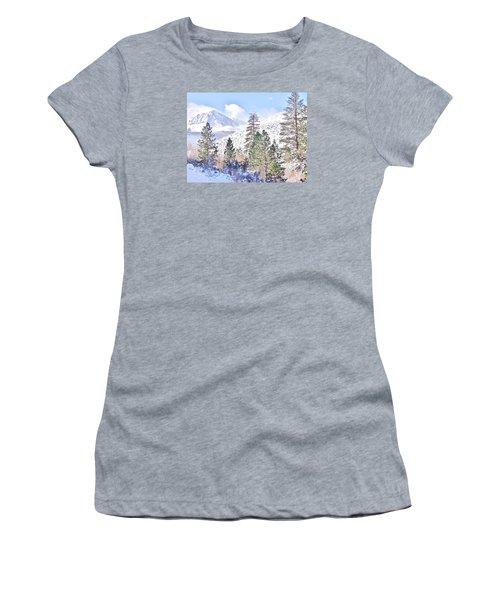 Canyon Snow Women's T-Shirt (Junior Cut) by Marilyn Diaz