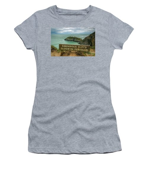 Women's T-Shirt (Junior Cut) featuring the photograph South Stack Lighthouse by Ian Mitchell