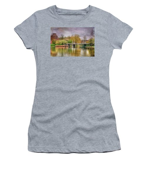 Women's T-Shirt (Junior Cut) featuring the photograph Spring In The Boston Public Garden by Joann Vitali