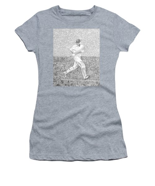 Women's T-Shirt (Athletic Fit) featuring the mixed media The Batsman by Elizabeth Lock
