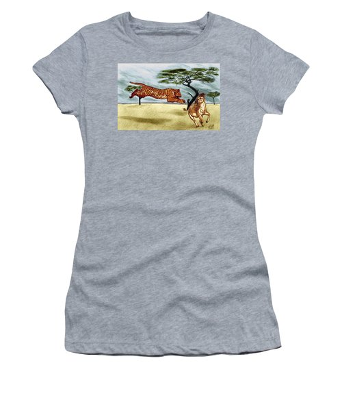 The Lunge Women's T-Shirt (Athletic Fit)