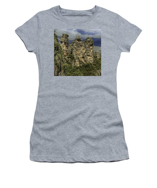 Women's T-Shirt featuring the photograph The Three Sisters by Chris Cousins