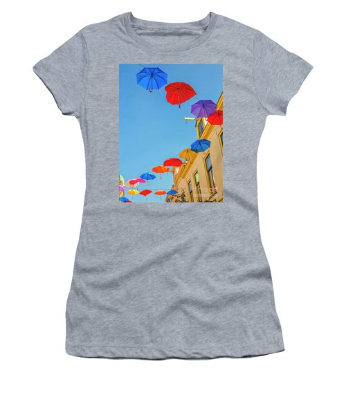 Umbrellas In The Sky Women's T-Shirt (Athletic Fit)