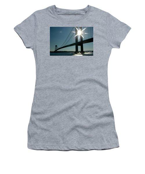 Verrazano Bridge Starburst Women's T-Shirt (Athletic Fit)