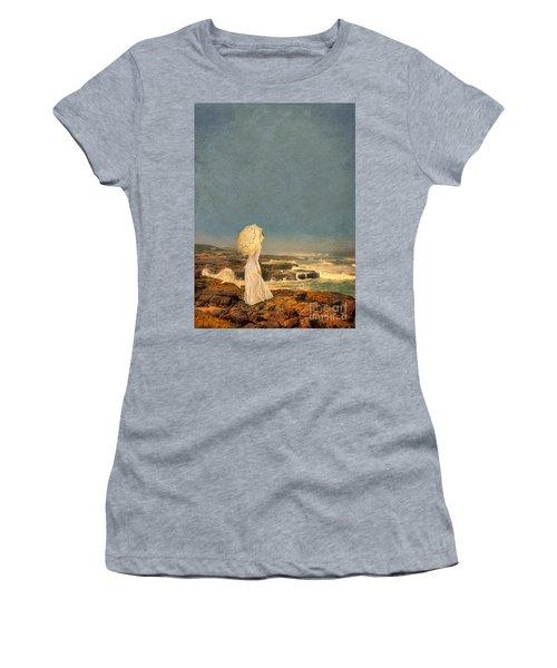 Victorian Lady By The Sea Women's T-Shirt (Junior Cut) by Jill Battaglia