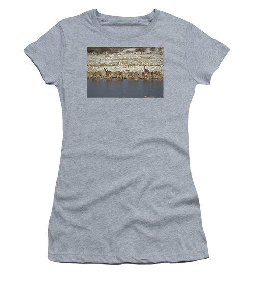 Women's T-Shirt (Junior Cut) featuring the digital art Waterhole Kudu by Ernie Echols