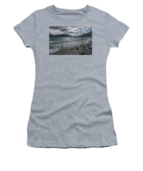 Women's T-Shirt (Athletic Fit) featuring the photograph Windy Day On Lake Wakatipu by Gary Eason