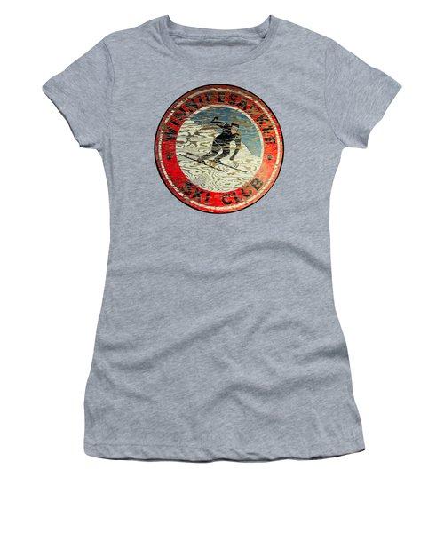 Winnipesaukee Ski Club Women's T-Shirt (Junior Cut) by Mim White