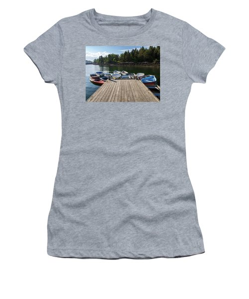 Winter Harbor Maine  Women's T-Shirt (Athletic Fit)