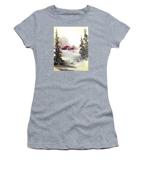 Winter Landscape Women's T-Shirt (Junior Cut) by Dorothy Maier