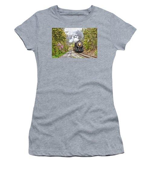 Wmsr Steam Engine 734  Women's T-Shirt (Athletic Fit)