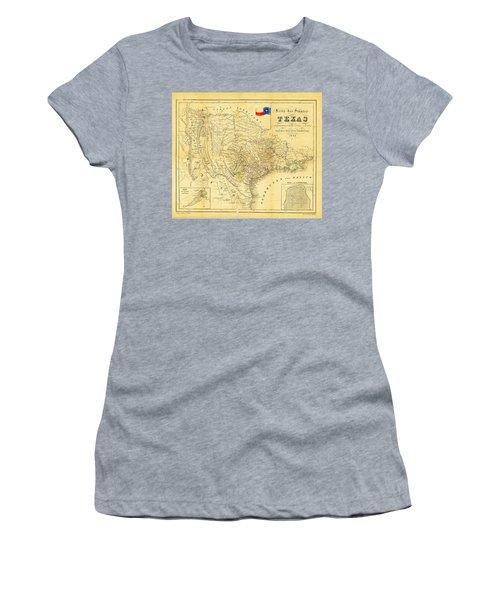 1849 Texas Map Women's T-Shirt