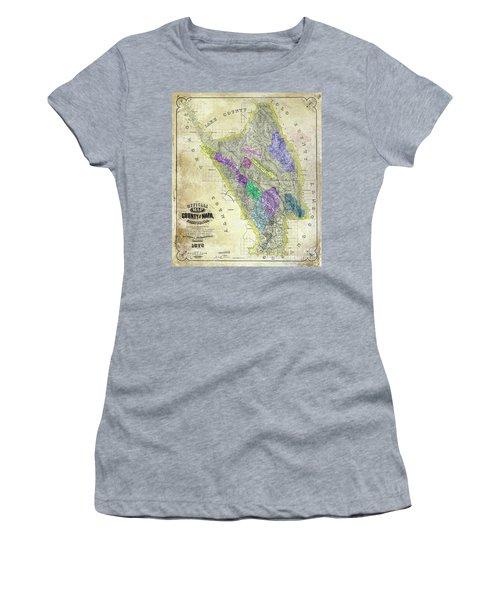 1876 Napa Valley Map Women's T-Shirt