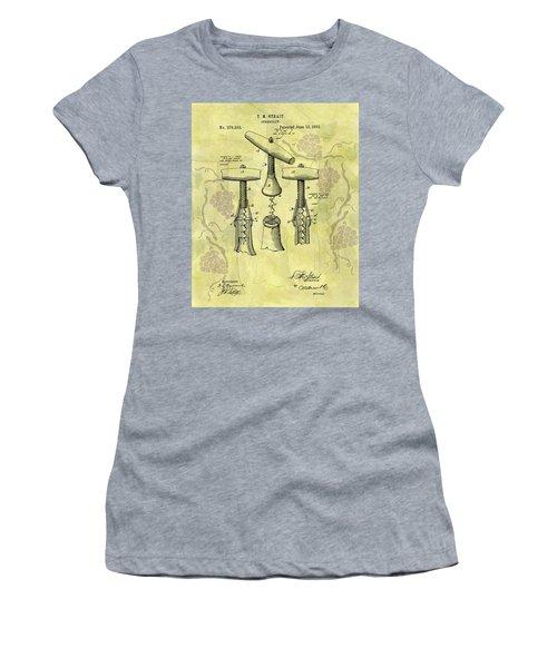 1883 Corkscrew Patent Art Women's T-Shirt