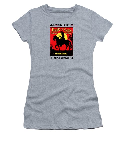 1920 The Times Of Cuba Women's T-Shirt (Junior Cut) by Historic Image