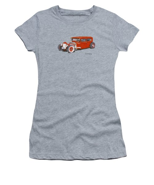 1928 Ford Tudor Jalopy Ratrod Women's T-Shirt (Athletic Fit)