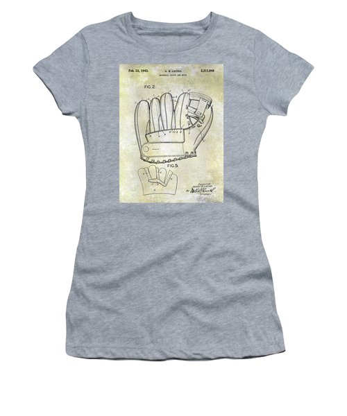 1943 Baseball Glove Patent Women's T-Shirt (Athletic Fit)