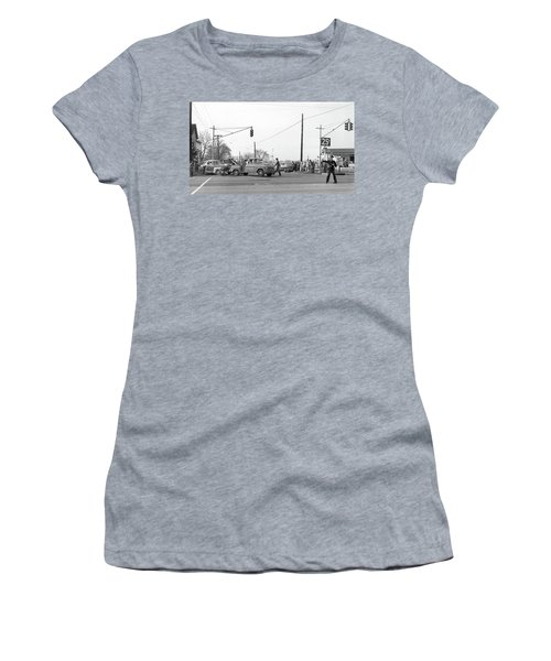 1957 Car Accident Women's T-Shirt (Athletic Fit)