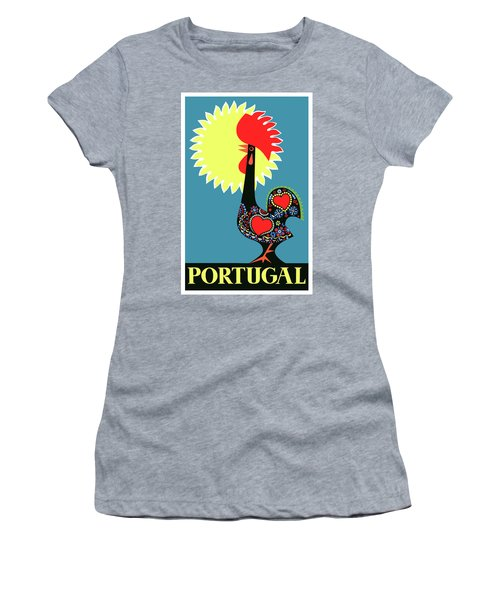 1965 Portugal Rooster Of Barcelos Travel Poster Women's T-Shirt