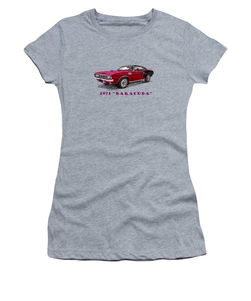1971 Plymouth Barracuda Women's T-Shirt (Athletic Fit)