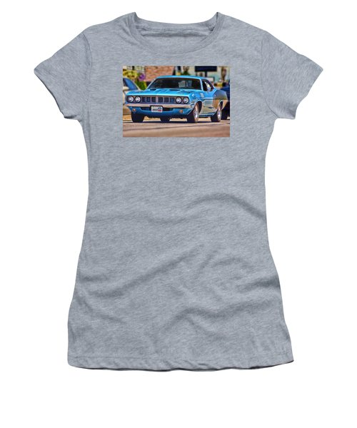 1971 Plymouth 'cuda 383 Women's T-Shirt (Athletic Fit)
