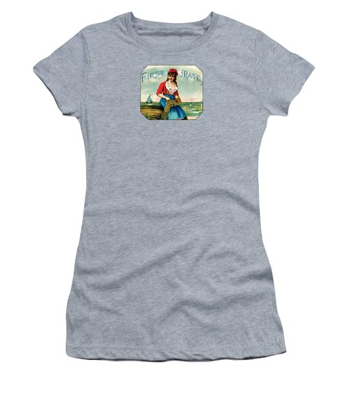 19th C. First Mate Cigars Women's T-Shirt (Junior Cut) by Historic Image