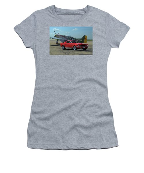 1965 Mustang Fastback Women's T-Shirt (Athletic Fit)