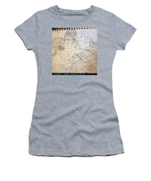 Adam Andeve The Creation Story Women's T-Shirt (Athletic Fit)