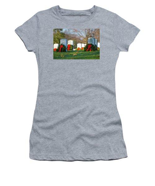 Arlington National Cemetery At Christmas Women's T-Shirt