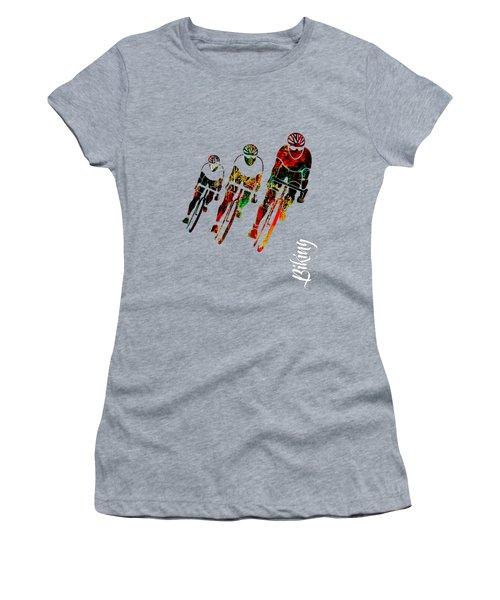 Bike Racing Women's T-Shirt (Athletic Fit)